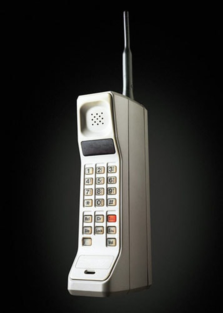 The first portable cell phone weighed 2.4 lbs.