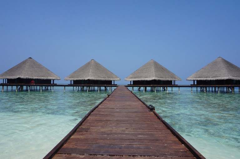 Water bungalows on the resort island can cost hundreds to thousands of dollars per night.