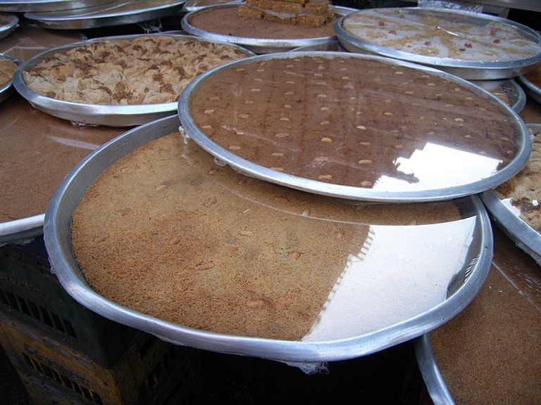 Basbousa and Kunafa infront