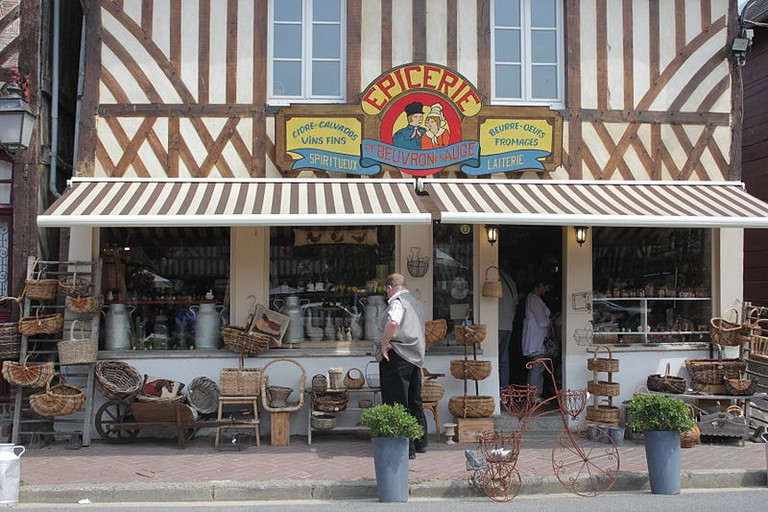 The local grocery store in the beautiful village of Beuvron-en-Auge