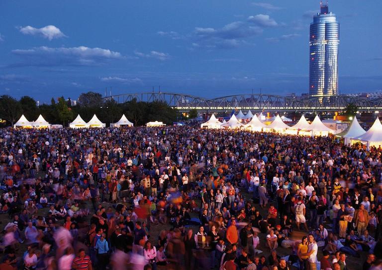 The Danube Island Festival in full swing