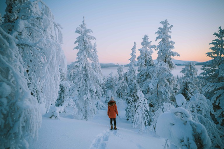 Finnish Lapland in winter colours.