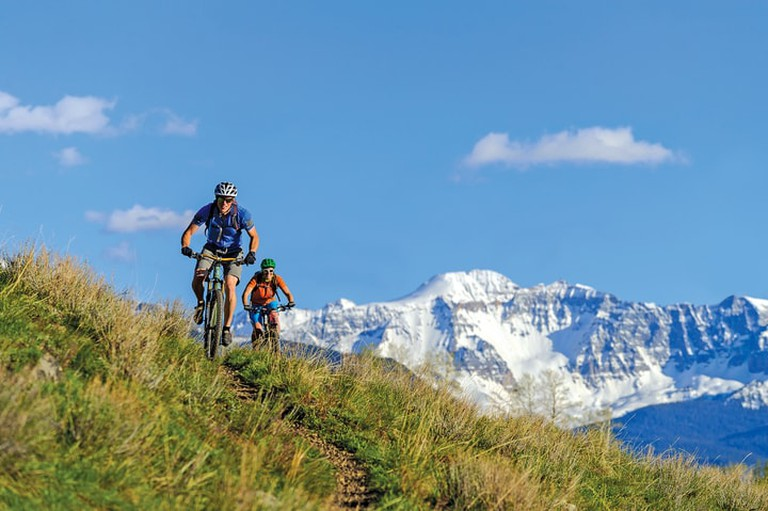 Mountain biking in Telluride in the summer is a great daytime activity