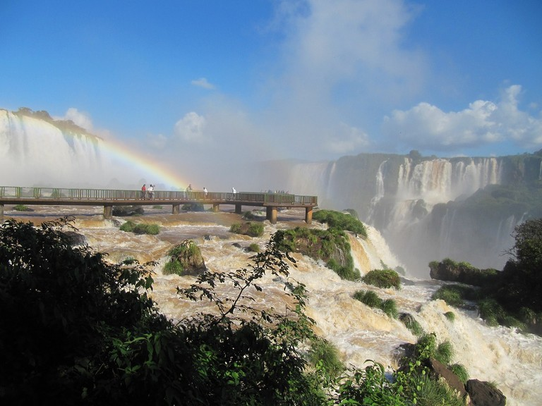 Iguazu falls in Foz do Iguacu