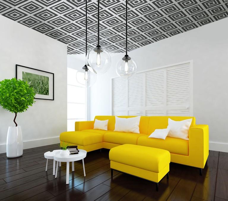 gallery-1519038087-i-want-wallpaper-ceiling-interior-01-muriva-aztec-diamond-wallpaper