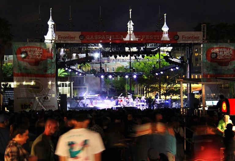 Gasparilla Music Festival in downtown Tampa.
