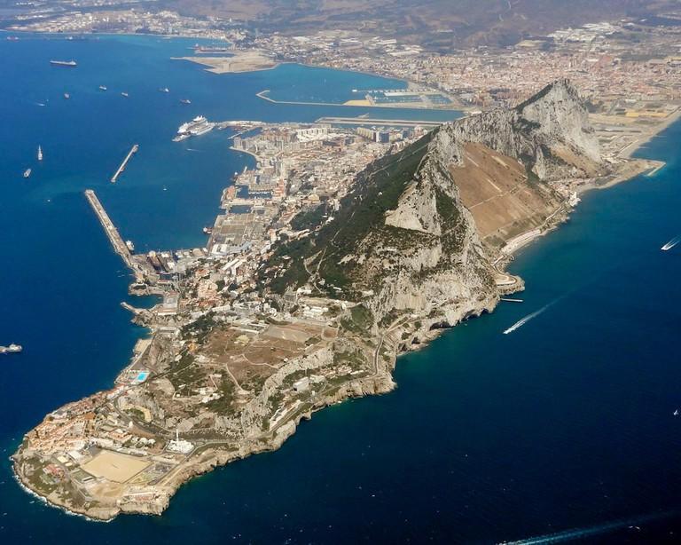 Gibraltar aerial view