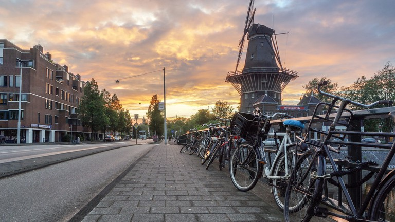 There are a lot of bikes in Amsterdam!