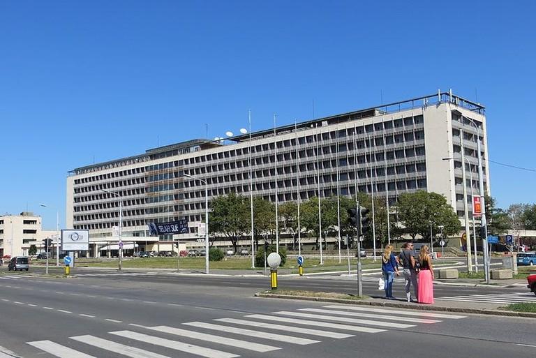 The famous Hotel Jugoslavija in Belgrade