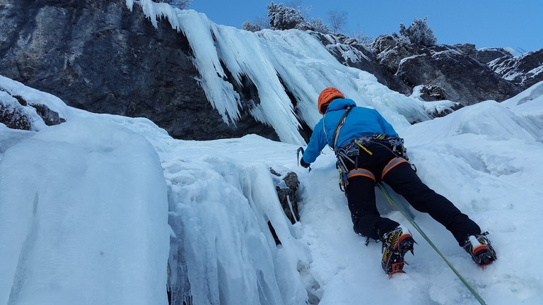Dare you climb a frozen waterfall?