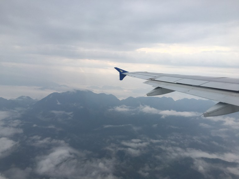 Lao Airlines Flight over Luang Prabang