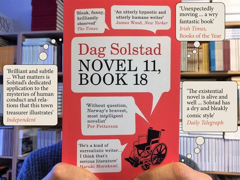 International praises for Dag Solstad's book, Courtesy of Forlaget Oktober