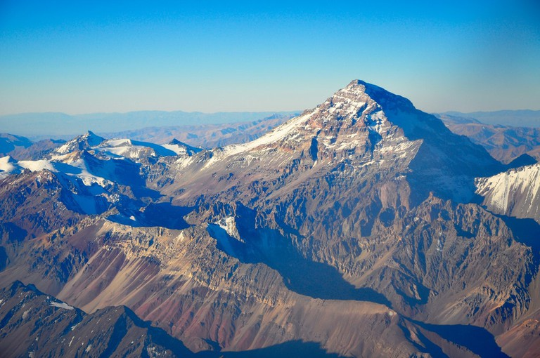 The impressive Mount Aconcagua near Mendoza