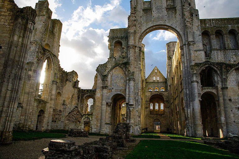 Discover the stunning ruins of an abbey in nearby Jumièges
