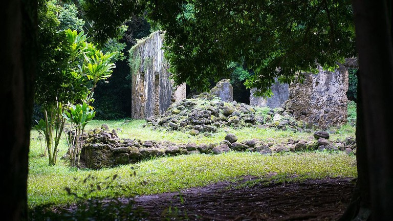 Kaniakapupu Ruins clearing