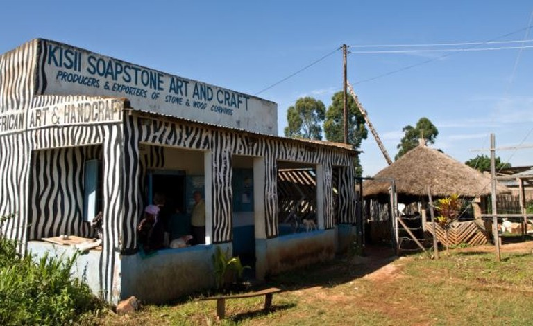 Soap stone carving in Kisii