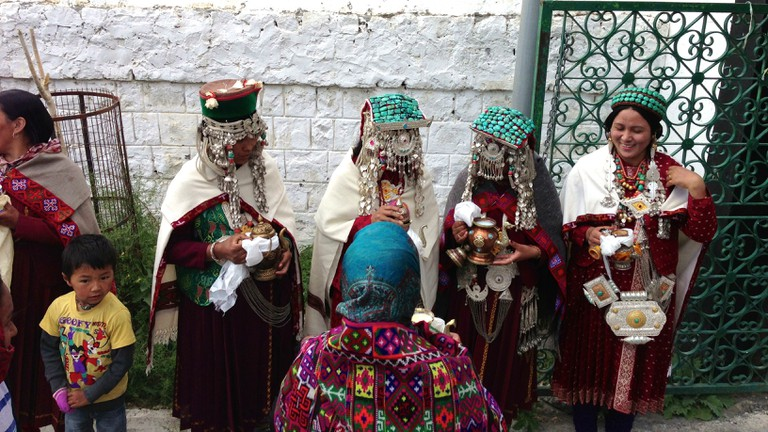 Ladakh Women Wearing Their Traditional Dress