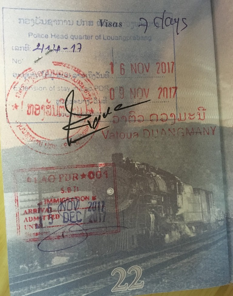 Lao Visa Extension