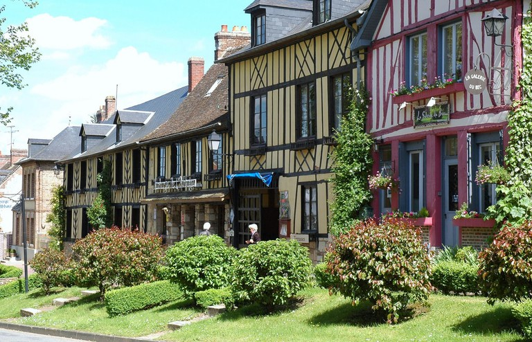 Colourful, half-timbered houses of Le Bec-Hellouin