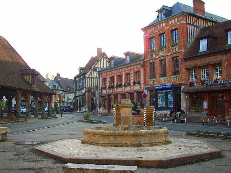 The town square of Lyons-la-Forêt