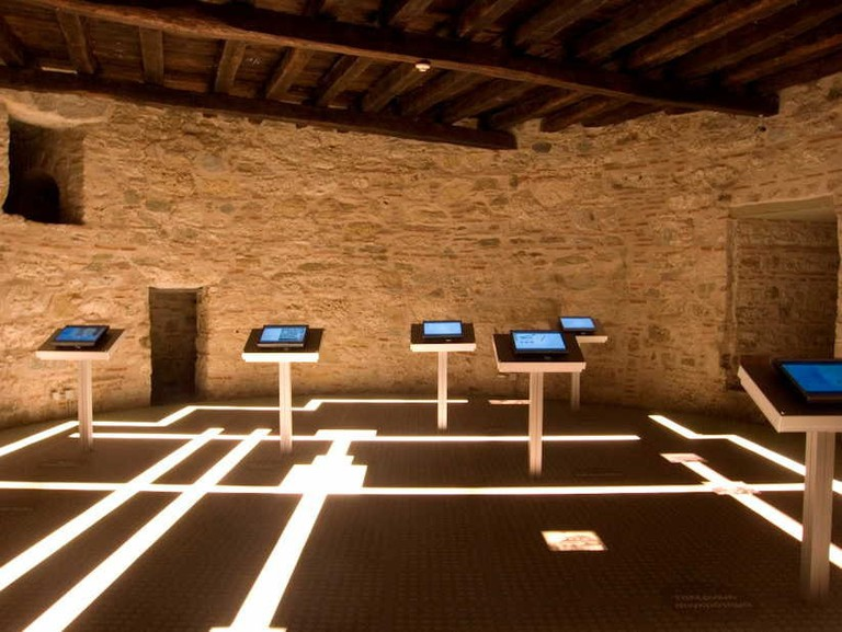 Second-floor gallery in the Museum of the History and Art of Thessaloniki, White Tower, Central Macedonia, Greece