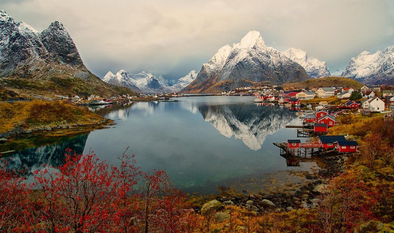 Magical places like Reine in Lofoten can better be accessed by a smaller ship, Courtesy of Visit Lofoten