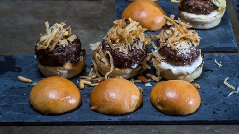 Mansaf sliders at District