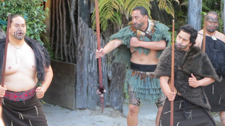 Traditional Maori men's garb