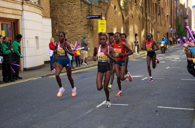 Edna Kiplagat running in the London marathon 2014