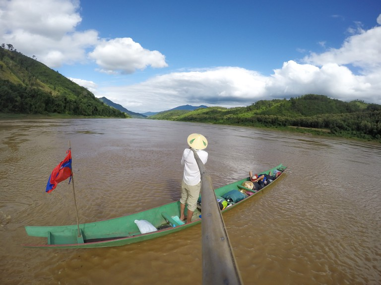 Markus Pukonen and Felix Irion on the Mekong
