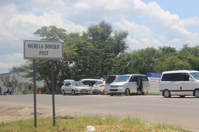 The Wenela border post is situated near the border of Namibia, Angola, Botswana, and Zambia