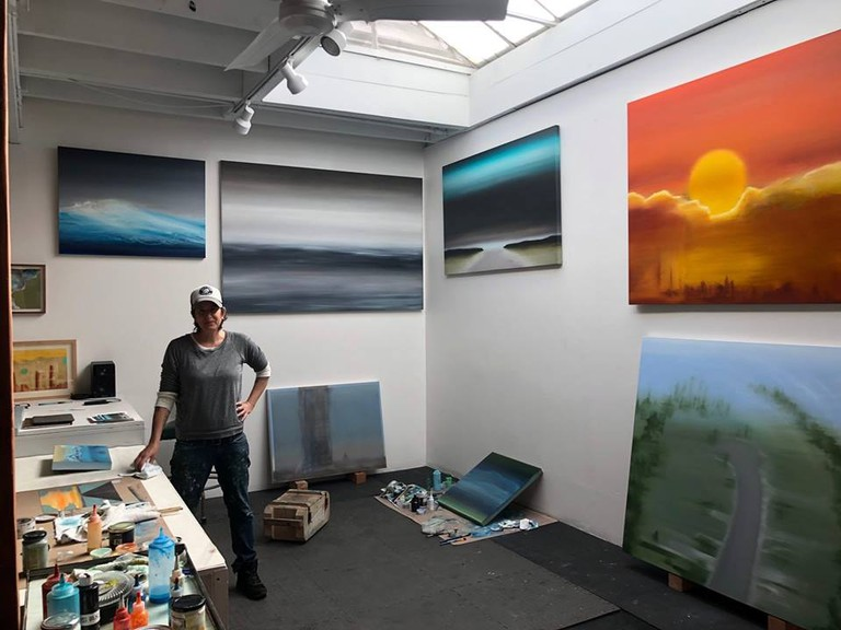 MB Boissonnault has been painting in Venice, CA for 18 years