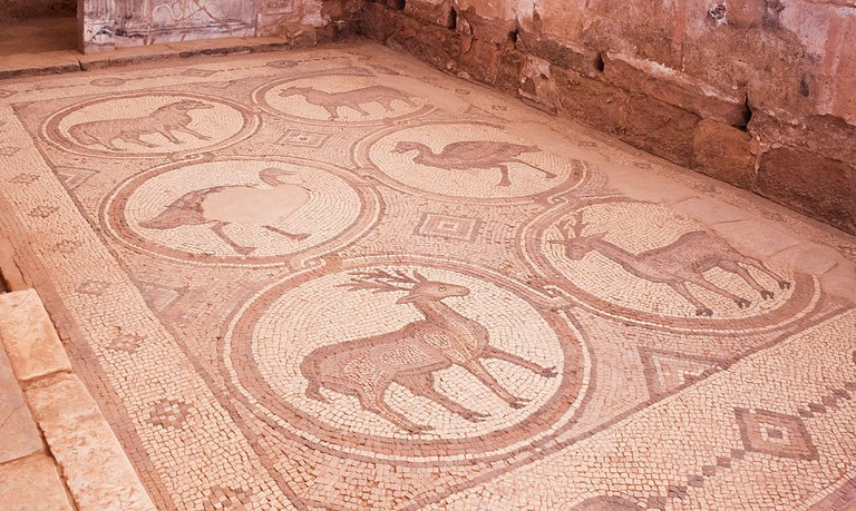 A mosaic in Petra Church