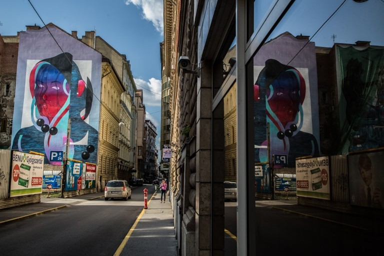 A colourful mural that represents the vibrancy of Budapest