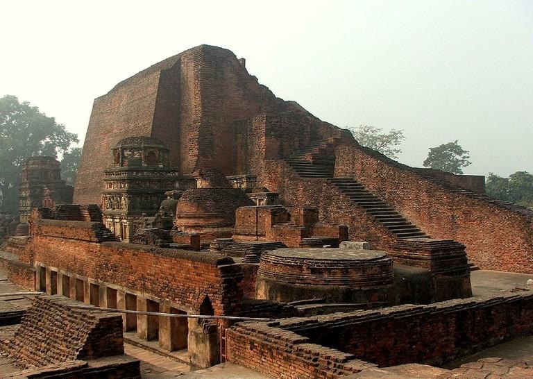 Ruins of Nalanda University in Bihar, India