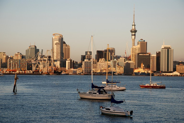 View of Auckland from Stanley Bay