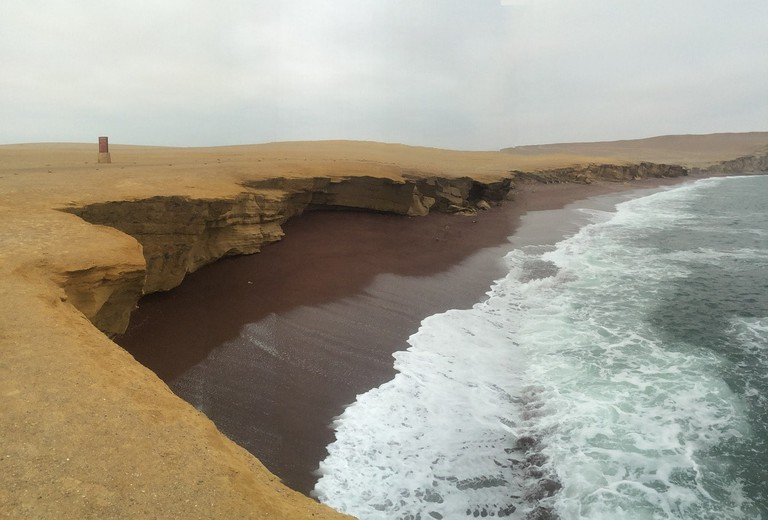 A look at one of the beaches in Paracas