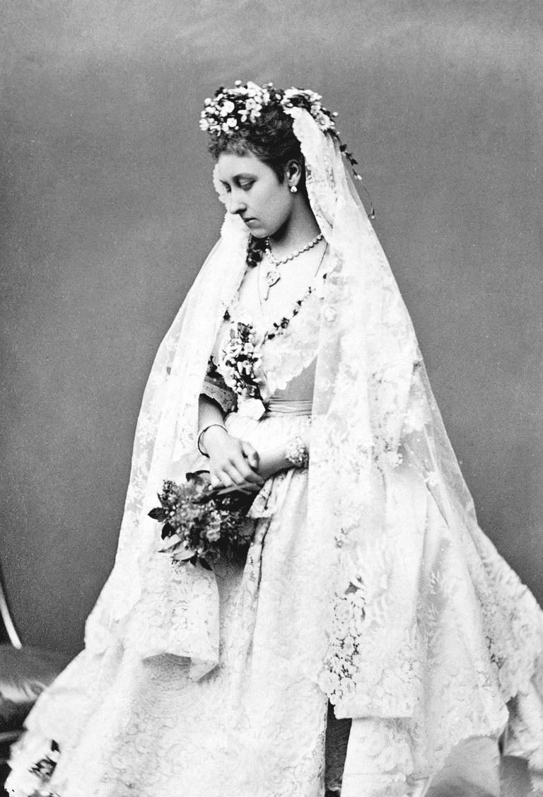 Princess Louise in her wedding dress