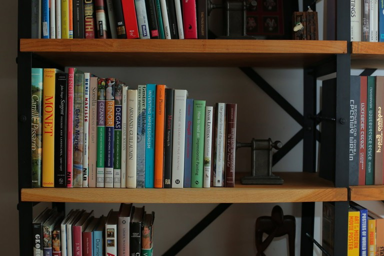 Bookshelves at Publica
