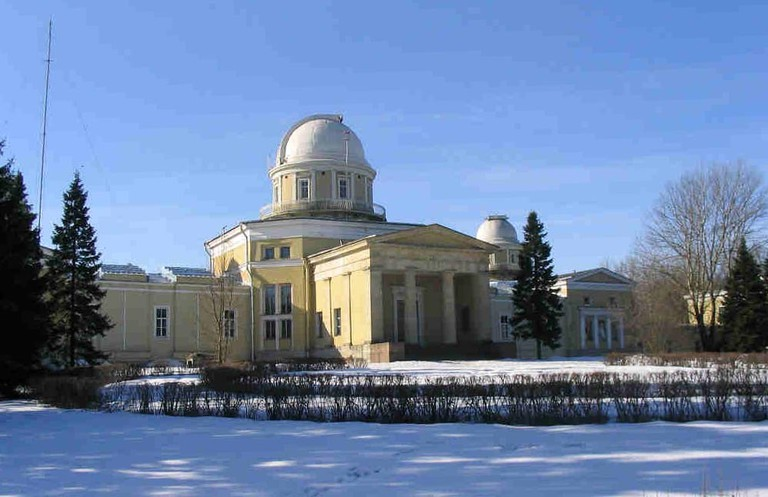 The Pulkovo Observatory in the winter