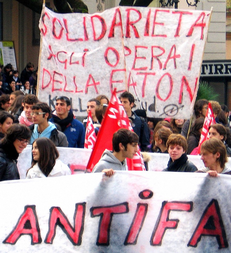 Modern antifascist movements spurred on by Italian anarchists