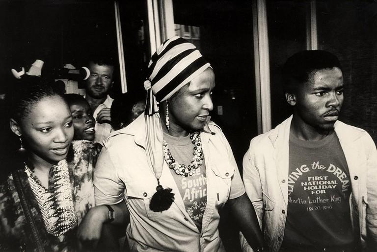 TRIAL OF WINNIE MANDELA, SOUTH AFRICA  - FEB 1986