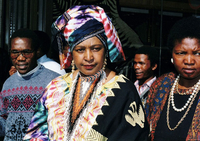 Winnie Mandela and Nelson Mandela at the supreme court for Winnie's trial, Johannesburg, South Africa - 1991