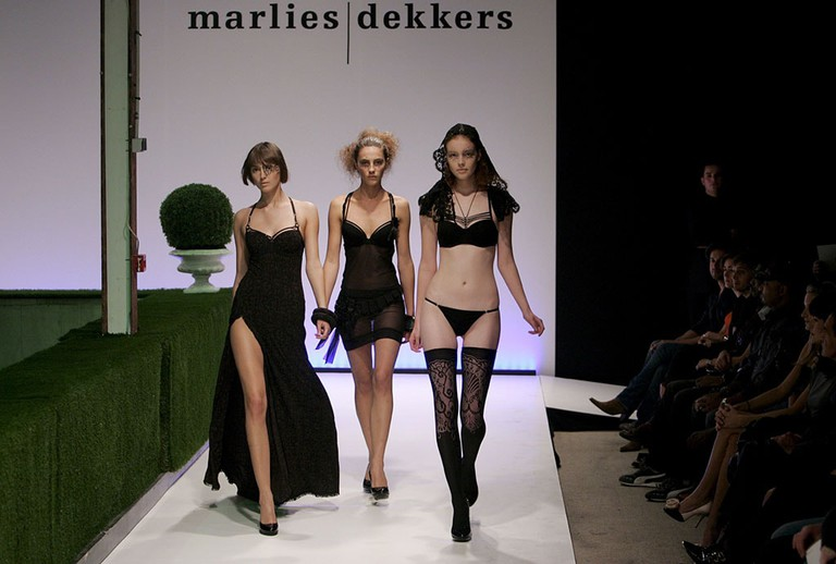 Models Wear a Creation As Part of the Marlies Dekkers 'Lingerie' |