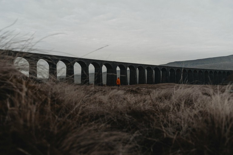 Ribblehead Viaduct in the evening