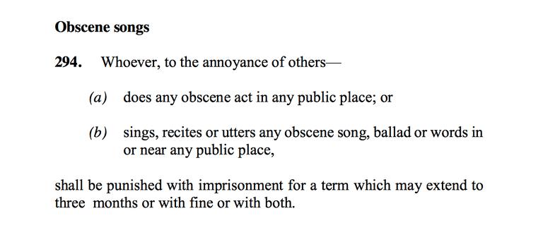 Malaysia's Penal Code 294