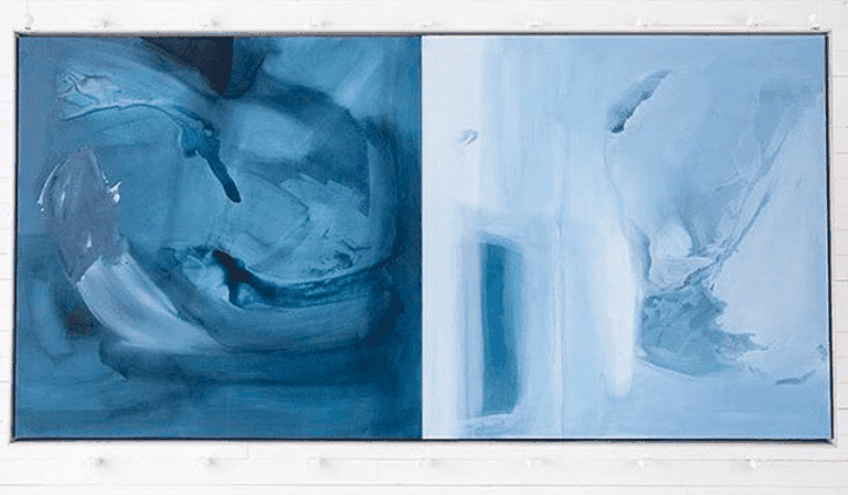Mallory Page's paintings are abstract.