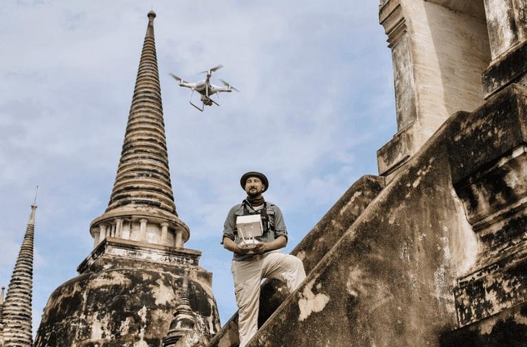 CyArk documenting Thailand's Ayutthaya with a drone