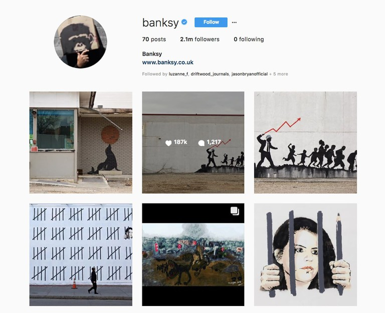 The artwork has not appeared on Banksy's Instagram page