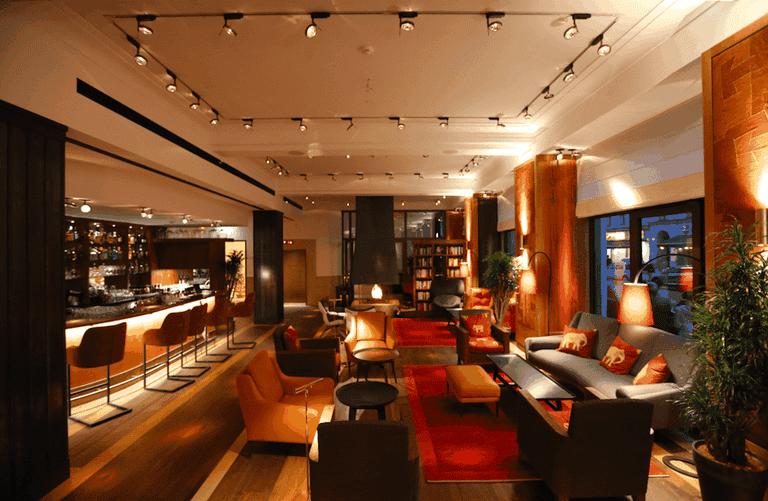 The interior of the ground floor bar at Orania.Berlin